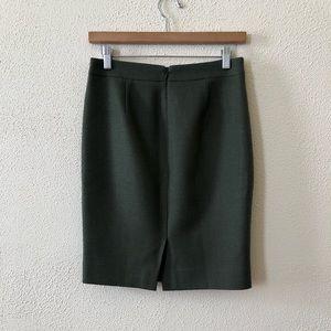 J. Crew Skirts - J. Crew No. 2 Pencil Skirt in Green Wool 2P